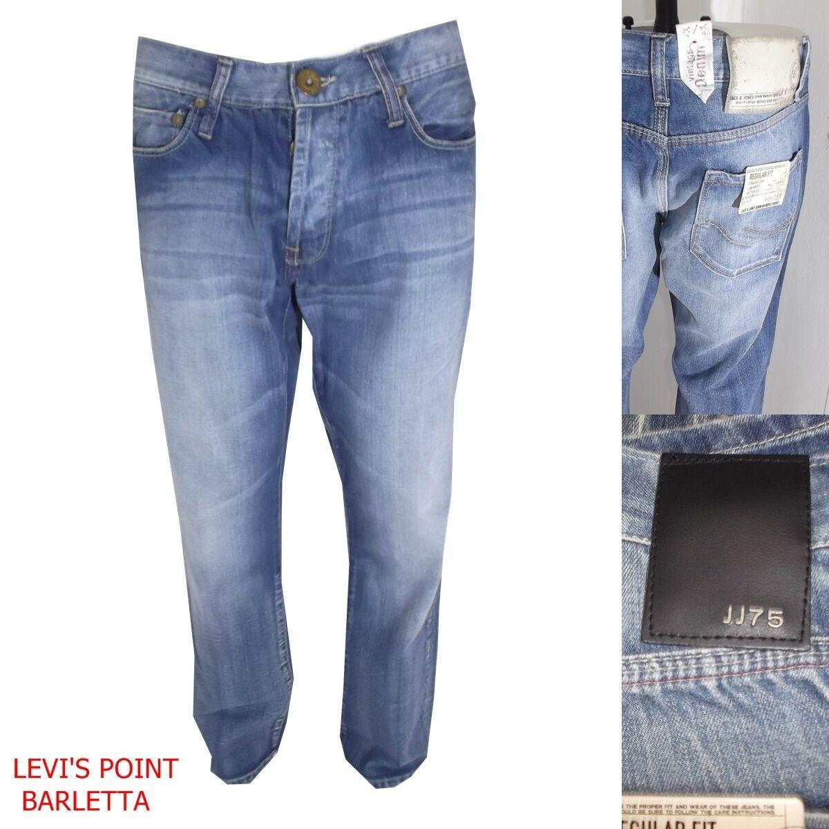 Jack&jones jeans uomo gate svasato a zampa largo azzurro taglia W33 W34 nuovo