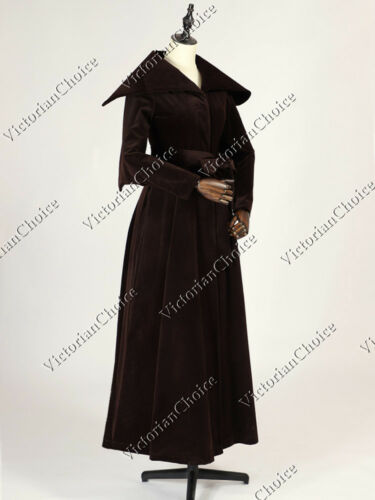 Steampunk Jacket | Steampunk Coat, Overcoat, Cape    Victorian Choice Edwardian Velvet Winter Trench Coat Vintage Steampunk Punk C043 $166.32 AT vintagedancer.com