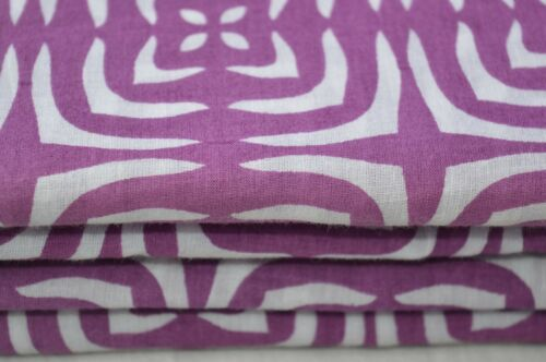 10 yards Indian 100/% hand made block printed sanganeri cotton fabric