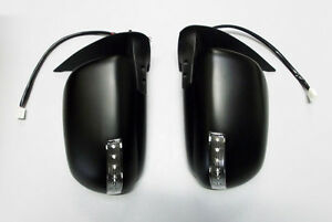 Pair Door Mirrors Black Electric With Indicator For Hilux 2.5TD 3.0TD MK6//7
