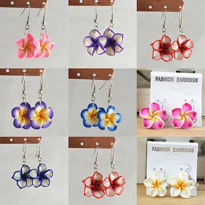wholesale lot 6 pairs Hawaiian Multicolor Frangipani Flowers children's earring