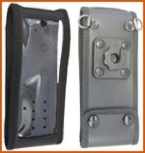 Weichledertasche-mit-kontakt-pro-Knopf-fuer-Sepura-STP8-9000
