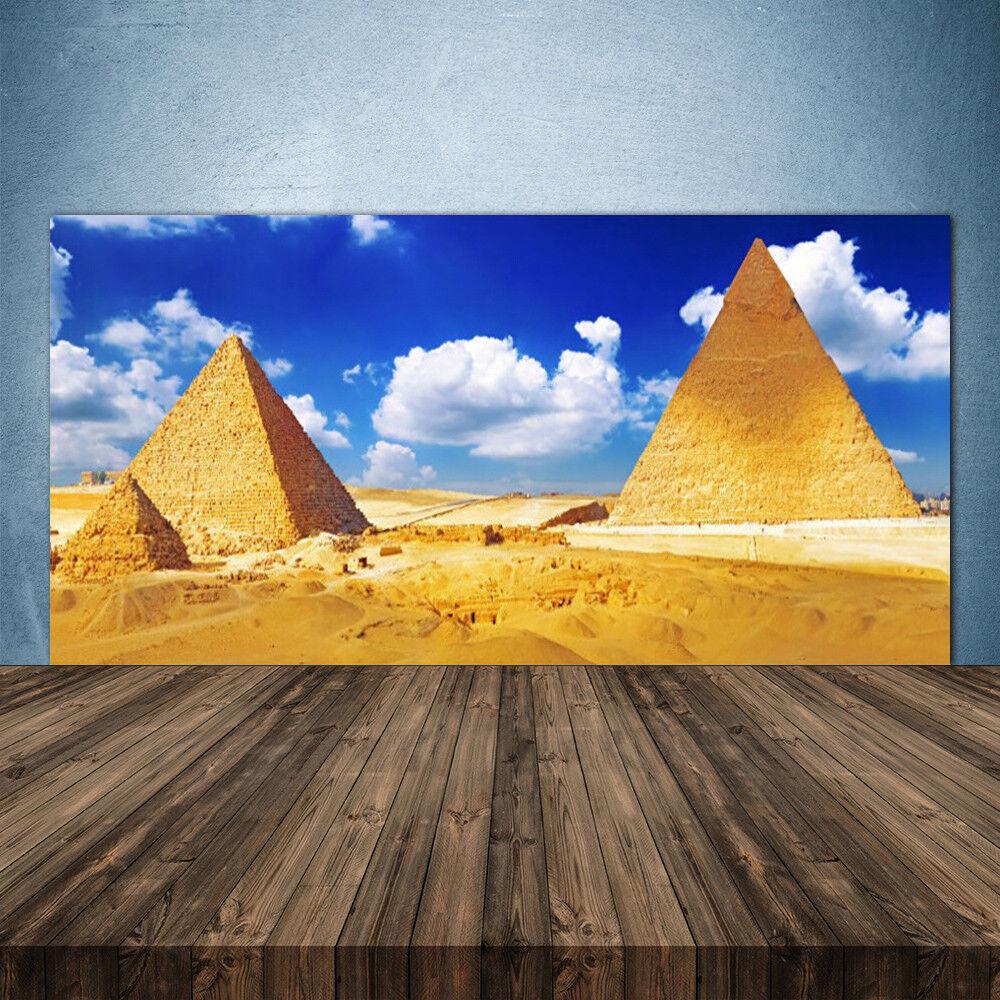 Crédence de cuisine en verre Panneau 140x70 Paysage Désert Pyramides
