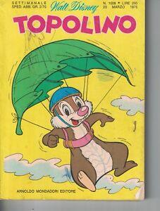1975 03 23 - TOPOLINO - WALT DISNEY - 23 MARZO 1975 - N.1008 - Italia - 1975 03 23 - TOPOLINO - WALT DISNEY - 23 MARZO 1975 - N.1008 - Italia