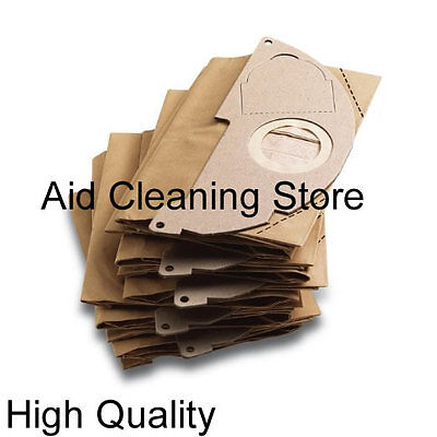 Pack of 10 Karcher Vacuum Cleaner Dust Paper Bags Fits WD2500