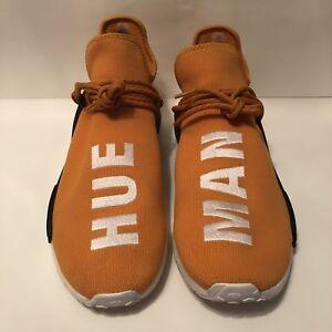 cheaper 7fd5b acf83 Details about Adidas Pharrell Williams NMD HU Human Race Tangerine Orange  Hue Man BB3070 Sz 14