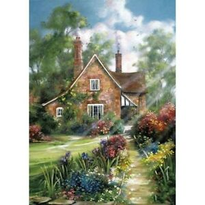 Full-Drill-5D-Art-Craft-Embroidery-Cottage-In-Kit-Art-Cross-Stitch-Decor-Gifts