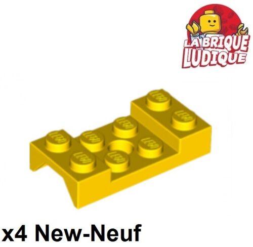 4x Fahrzeug Kotflügel Wache Schlamm 2x4 Arch Bogen Gelb//Gelb 60212 Neu Lego