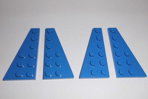 in blau aus 6747 8093 9525 Lego 54383//54384 2x R.+2x L. 4 Flügelplatten 3x6