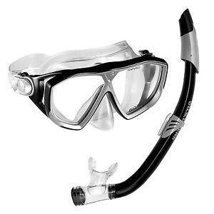 éNergique Us Divers Noir Napali Unisexe Tuba Et Masque Set Brand New [plongée En Apnée]-afficher Le Titre D'origine Gagner Les éLoges Des Clients