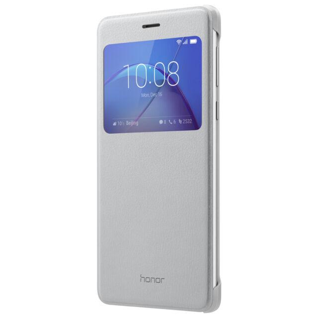 Honor 6X View Flip Cover Silber, Handytasche für Huawei Honor 6X