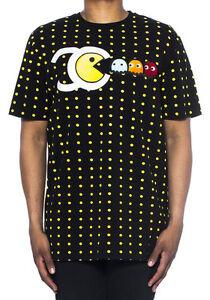 Hudson-Outerwear-034-PACC-034-Black-Short-Sleeve-Polka-Dot-Detail-men-039-s-Tee-Shirt