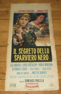 Filmplakat,IL SEGRETO DELLO SPARVIERO NERO,Lex Barker,Livio Lorenzon, MaRLOWA