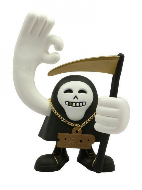 THE GHETTO REAPER gold AND COLD EDITION DESIGNER VINYL ART TOY FIGURE VERY BRAVO