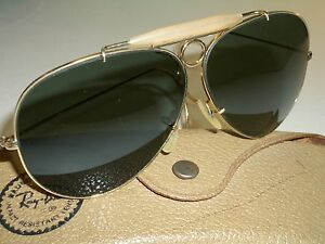 73faae228114ea Details about 1960 s ERA VINTAGE B L RAY BAN GOLD PLATED G15 UV SHOOTERs  AVIATOR SUNGLASSES