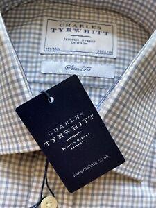 Nuevo-Charles-Tyrwhitt-Calce-Ajustado-Camisa-de-vestir-de-hierro-no-15-5-33-Frances-Puno-100-Nuevo