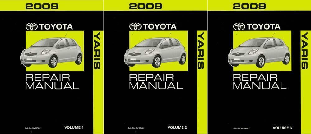 OEM Repair Maintenance Shop Manual Bound for Toyota Yaris Complete Set 2009