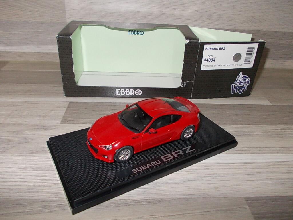 artículos de promoción Ebbro 1 43 - Subaru BRZ - - - rojo - Mint in box  distribución global