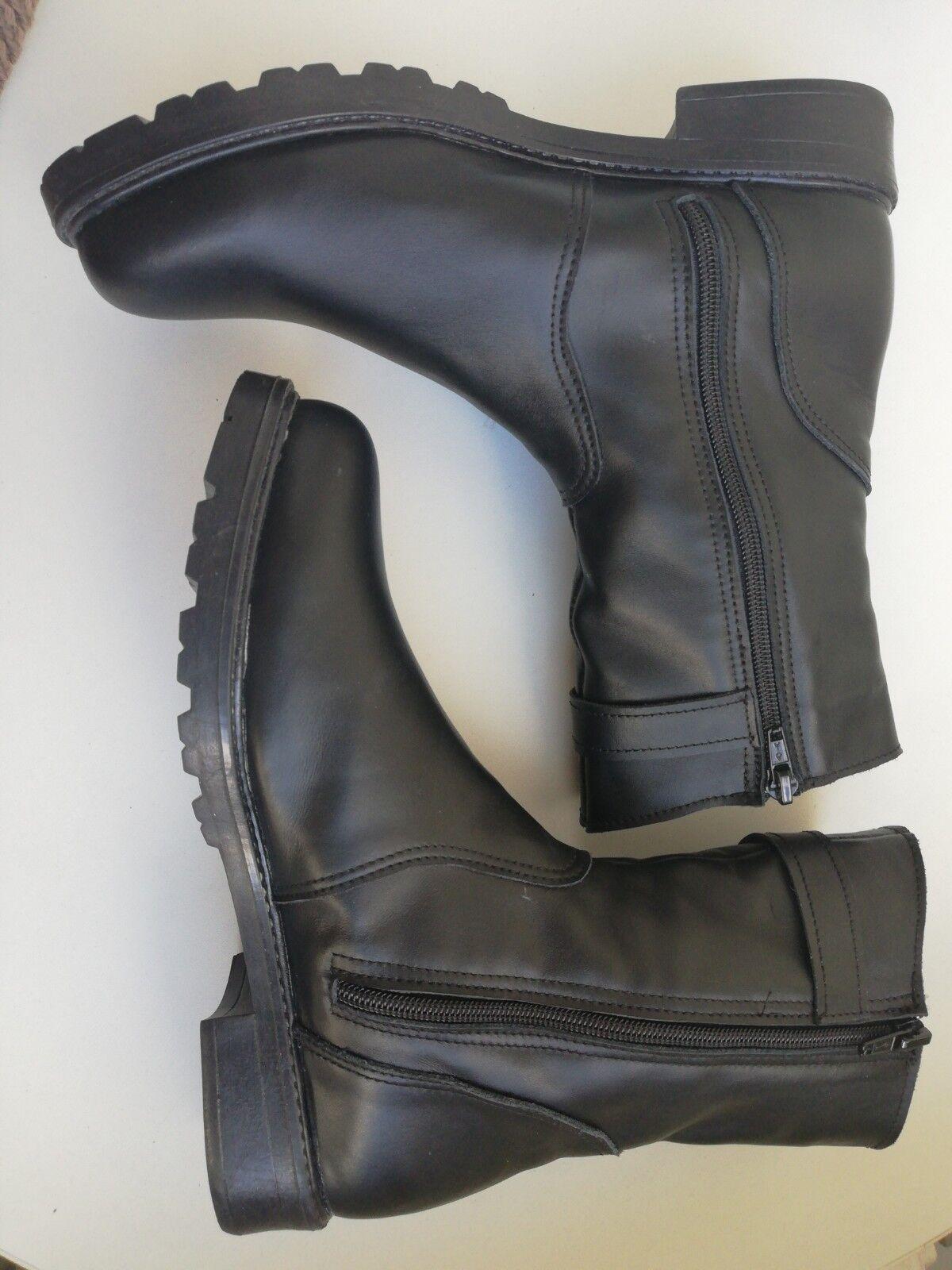 ✰ ECHTES LEDER Stiefeletten 39 Orthopädische Stiefel schwarz NEU schwarz Stiefel Leder schwarz 152cd9
