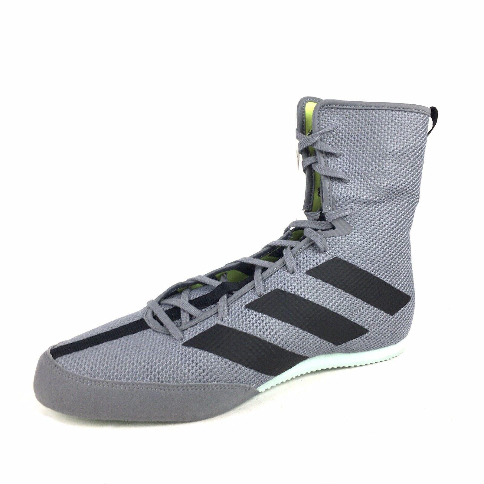 Adidas Box Hog 3 Mens Size 11 Boxing Shoes Grey Black Green EF2976 New
