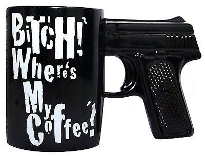B#TCH WHERES MY COFFEE GUN MUG COFFEE MUG Coffee Milk Mug Cup Cool Gift