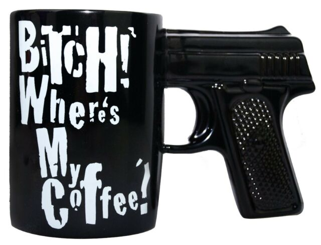 B#TCH WHERES MY COFFEE GUN MUG COFFEE MUG Coffee Milk Mug Cup Cool Gift