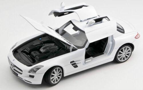 white Welly Modell Auto 1:24 NEU OVP BLITZ VERSAND Mercedes Benz SLS AMG weiss