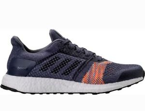 56f0e2ba109 Image is loading Adidas-UltraBOOST-ST-Running-Shoes-Raw-Indigo-Noble-
