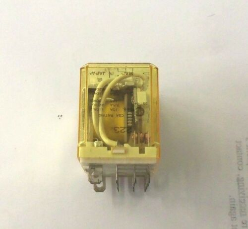 10A Contact 24VDC Coil RH4B‑UDC24V IDEC 4PDT Relay Used Good Condition!!
