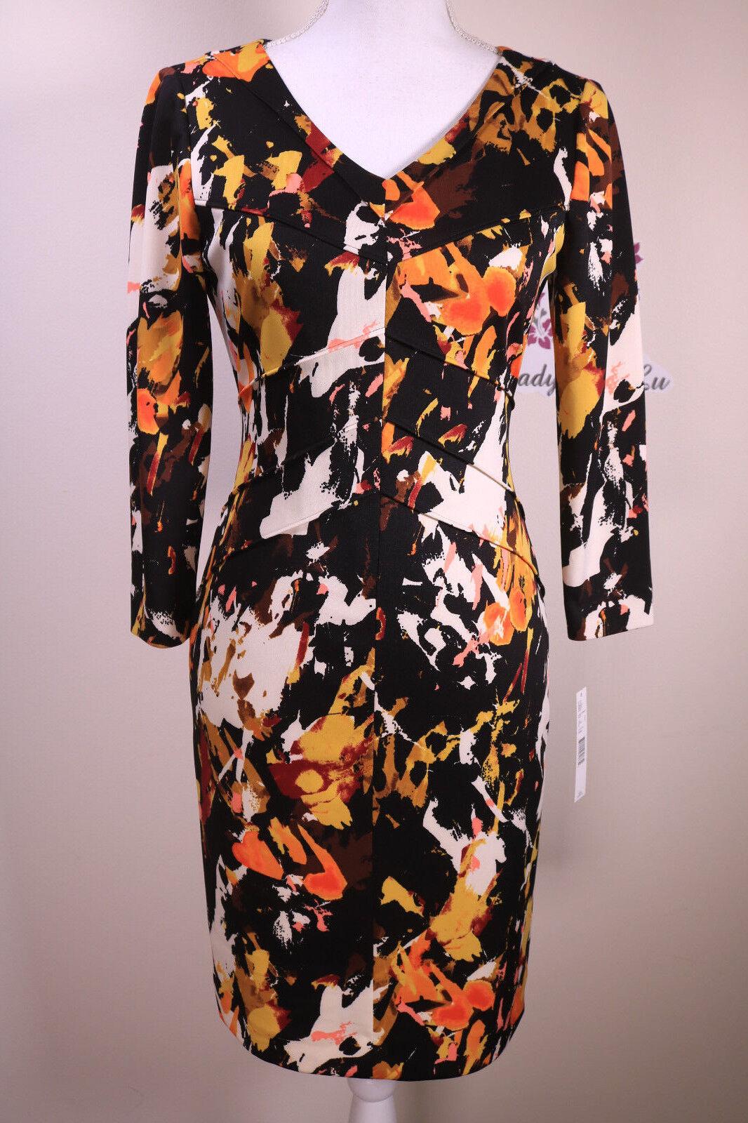 5996f3aea2f Antonio Melani New Simmons Printed Scuba Sheath Dress Size 2 4 6 8 10 12 NWT
