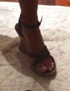 Sandali Zeppa Rivisitata Vintage Multicolor Scarpe Donna 38 Nero Giardini Shoes