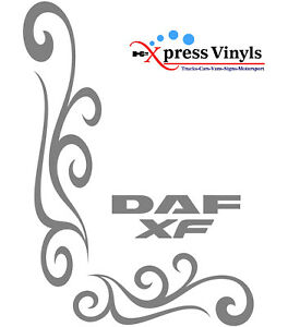 par DAF Camión lateral ventana gráficos x2