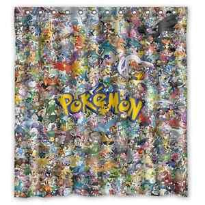 Image Is Loading New Arrival Custom Pokemon Bathroom Waterproof Fabric 66x72