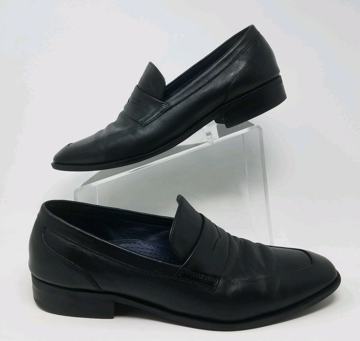Cole Haan Martino Penny LL mocassin cuir Chaussures Noir Homme Taille 11