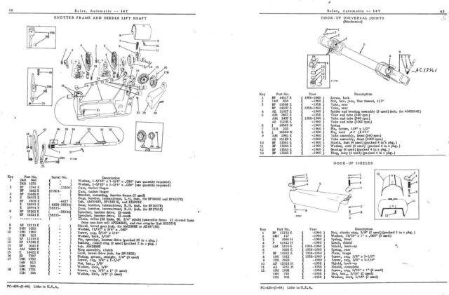John Deere Baler Parts Diagram.John Deere 14t Hay Baler Parts Manual Knotter Square Jd Exploded Views Assembly
