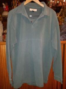 de mezcla Hombres Tamaño Tommy Verde Bahama L seda Suéter larga de Camisa del Manga lado w1I5XFq