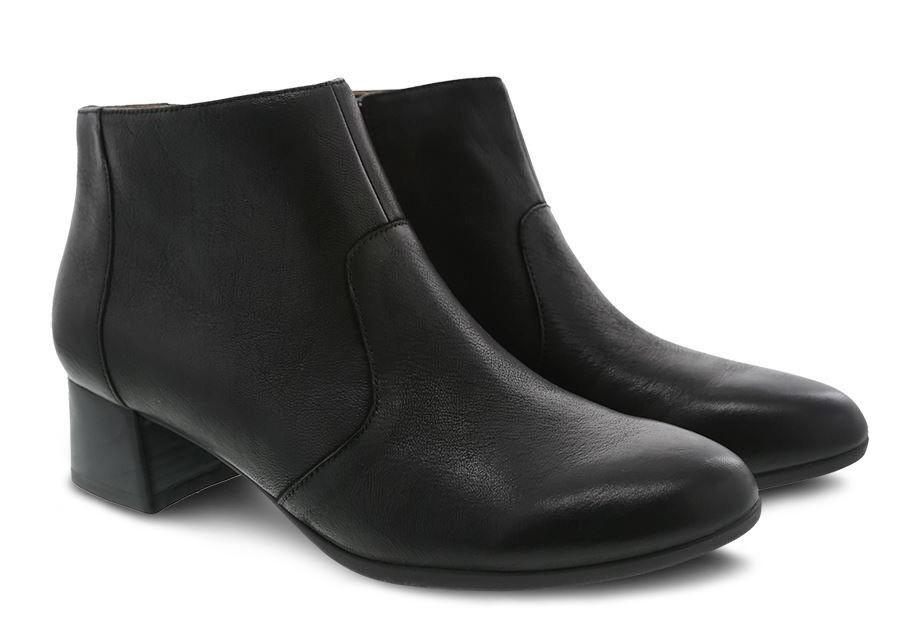 Dansko Women's Petra Boot Black Burnished Nubuck - size US 8 - was $185