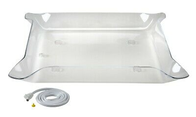 Glo-Ice acrylic buffet serving tray and illuminated display for catering