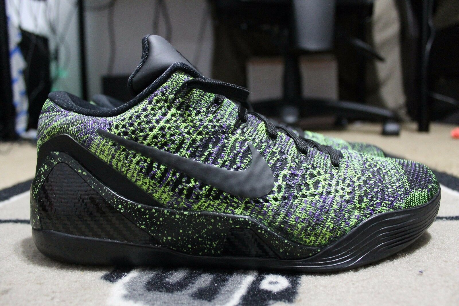 NEW Nike iD Kobe 9 SZ Elite Flyknit Mamba Moment SZ 9 10.5 Multicolor BLACK 361656