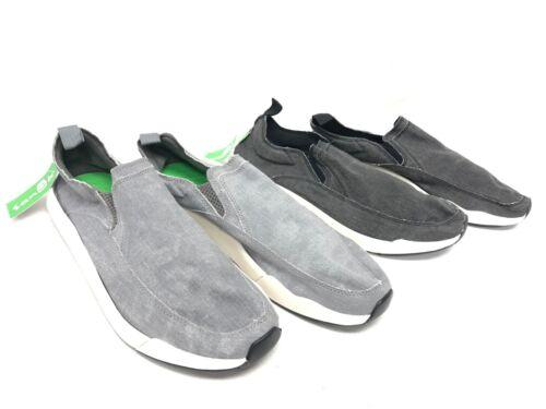 Sanuk Chiba Quest Canvas Sidewalk Surfers Black or Grey Gray 1091089 Slip On