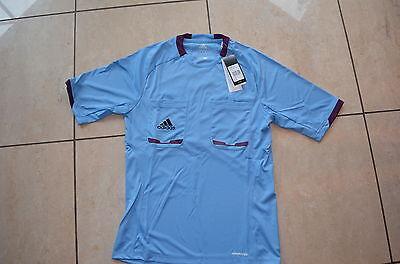 Adidas neu Schiedsrichter Trikot Größe S kurz arm blau