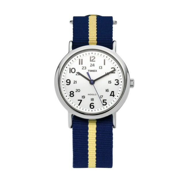 TIMEX T2P142 Weekender Unisex Wristwatch 38mm Fabric Watch Indiglo,Quartz