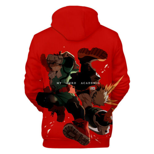 Men Women My Hero Academia 3D Print Anime Hoodies Pullover Sweater Sweatshirt