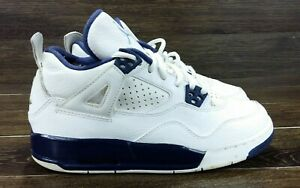 af19c92752fa0a Nike Air Jordan 4 Retro BG Legend Blue White Midnight Navy 408452 ...