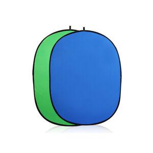 Bleu Écran Vert Pop-up fond ovale fond Panneau 2 en 1 Pliable Studio