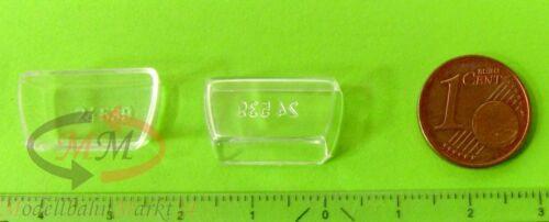 2 x ALBEDO Ersatzteil Ladegut Verglasung für Möbelkoffer FH H0 1:87-0079