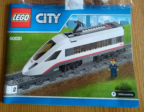 Lego City Passenger Train High-Speed Engine from 60051 plus Figure  NO MOTOR
