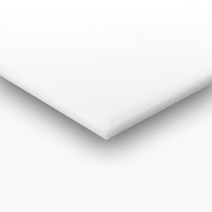 En Plastique Blanc (PEHD) Planche à découper 1 2  X 8  X 48  FDA Nsf