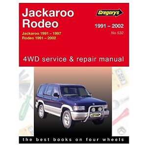 gregory s car manual for holden jackaroo rodeo 1991 2002 532 ebay rh ebay com au Auto Manual Switch Auto Manual Switch