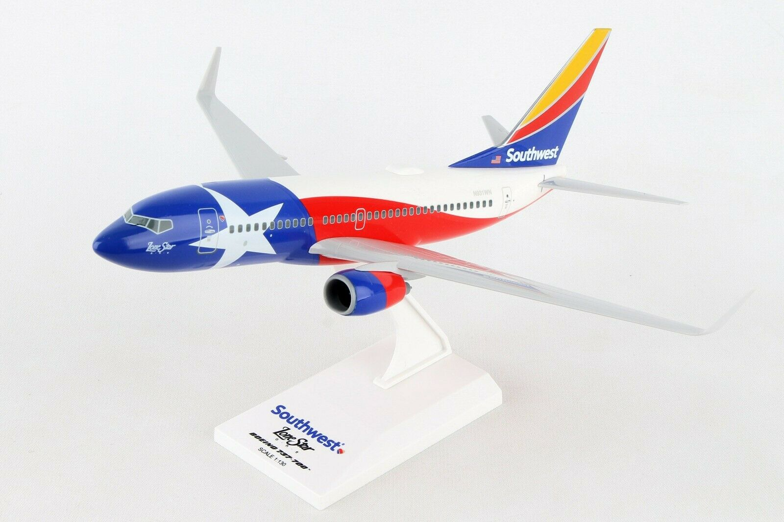 SKYMARKS SKR867 SWA SOUTHWEST AIRLINES LONE STAR ONE BOEING 737-700 1 130 MODEL